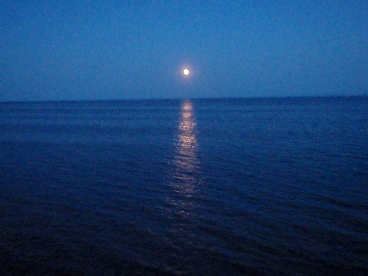 Moonrise. North Shore. Lake Superior.