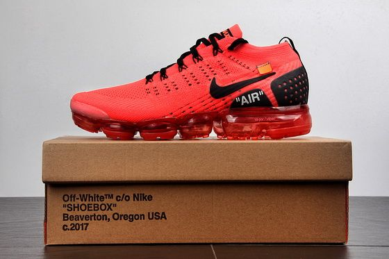 2dfca86916d8 Off White X Nike Air Max Vapormax Flyknit 2.0 Red 942842.012 Authentic Shoe