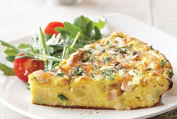Black Forest Ham and Gruyère Frittata