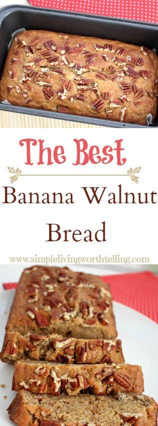 EGGLESS BANANA WALNUT BREAD/CAKE Eggless & Butterless  still Super Moist and Delish!!! Enjoy!!!