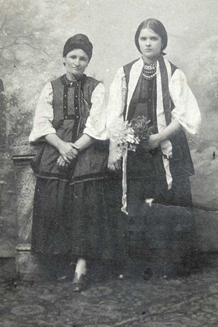 Мотря з дочкою Марією. Велика Круча 1908 р.