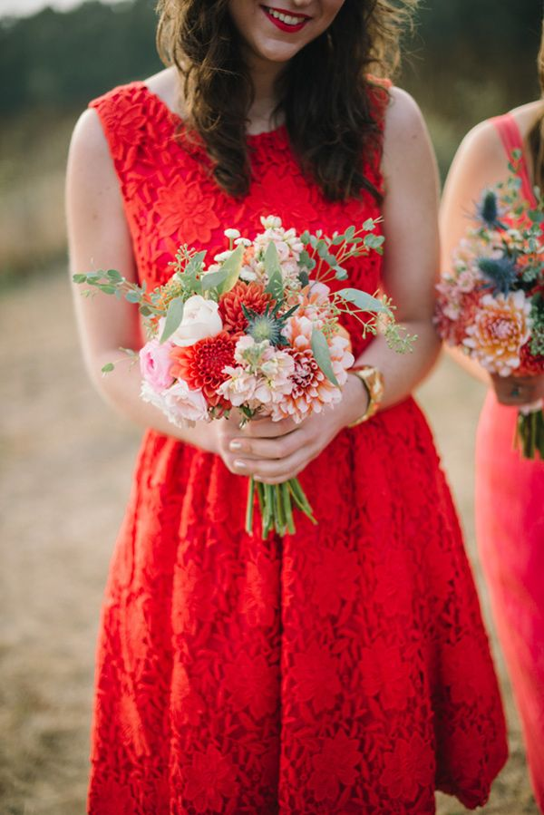 Romantic Pescadero Wedding - Photographer: Delbarr Moradi / I like the pop of orange here