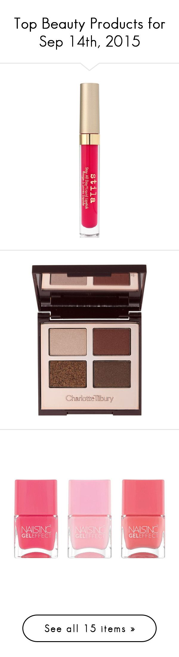 """""""Top Beauty Products for Sep 14th, 2015"""" by polyvore ❤ liked on Polyvore featuring beauty products, makeup, lip makeup, lipstick, amalfi, stila, matte finish lipstick, stila lipstick, lips makeup and matte lipstick"""