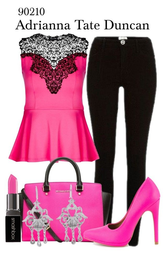 90210 by sparkle1277 on Polyvore featuring polyvore, fashion, style, City Chic, River Island, Qupid, MICHAEL Michael Kors, NOVICA, Smashbox and clothing
