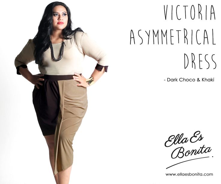 Victoria Asymmetrical Dress - This dress features high quality jersey which specially designed for sophisticated curvy women originally made by Indonesian Designer & Local Brand: Ella Es Bonita. Available at www.ellaesbonita.com