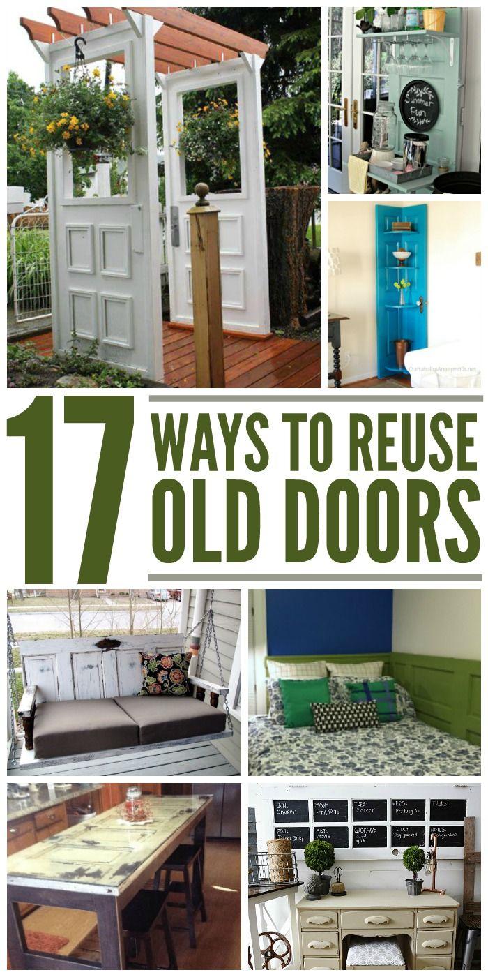 17 Crafty Ways To Reuse Old Doors Old Doors Diy Door