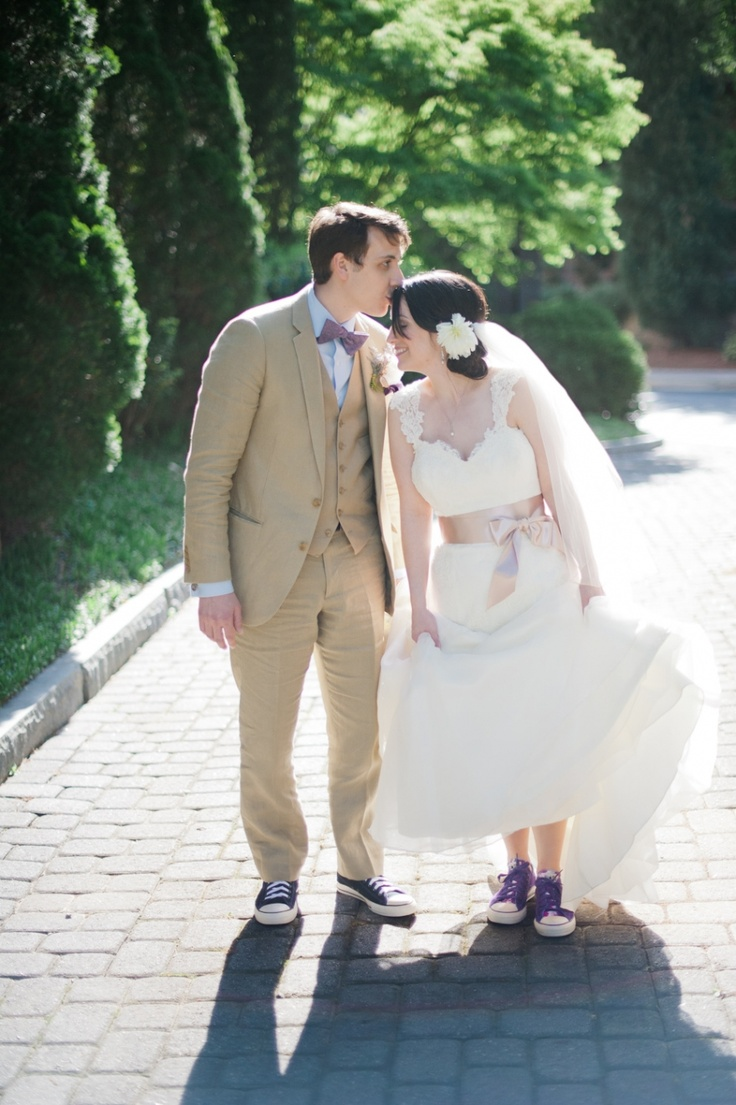 Converse sneakers for the bride and groom.