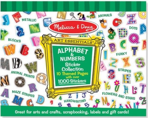 Melissa & Doug - Sticker Collection Alphabet and Numbers  #entropywishlist #pintowin  Because, with a toddler you can never have enough stickers!