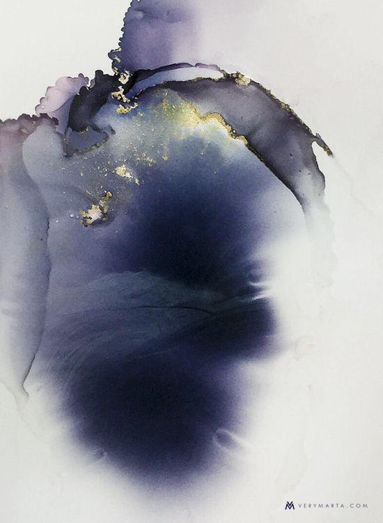 Watercolor Art, Abstract Art, Illustration, Textiles by Marta Spendowska VERYMARTA, Polish/American artist. Commission by email.