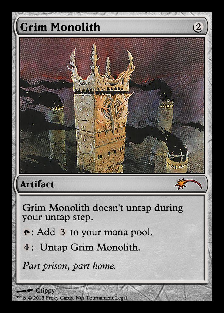 MTG: Grim Monolith. Art: Chippy