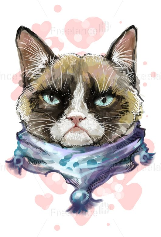 Cat. Aquarelle.  #cat #aquarelle #graphic #vector #freelancer #freelancediscount #freelancecreative Buy for $ 4.