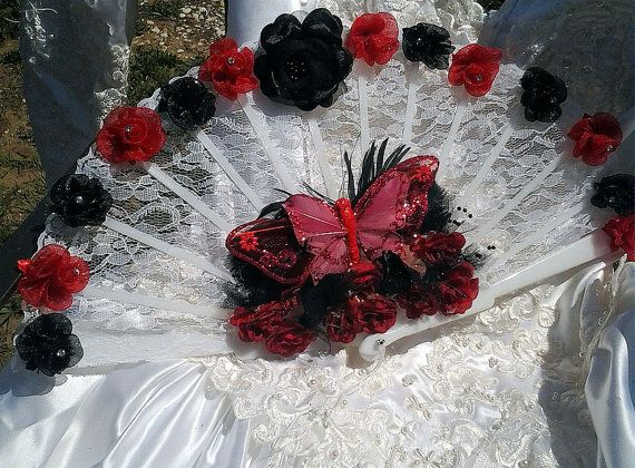 high quality red lace fan - Google Search