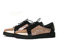 Золотисто-черные туфли Т-82