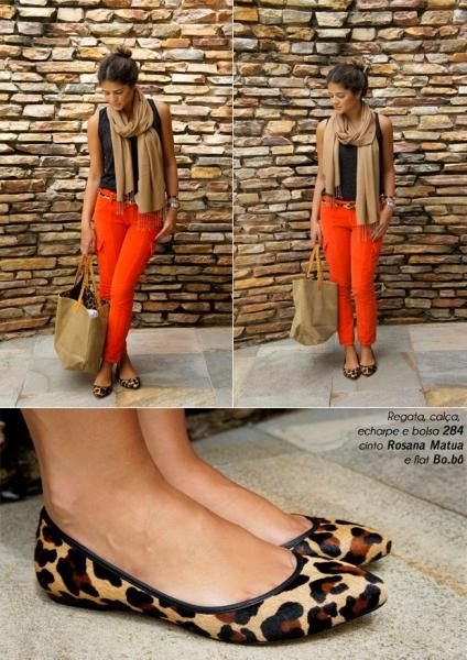 Orange Pants - Thassia Naves