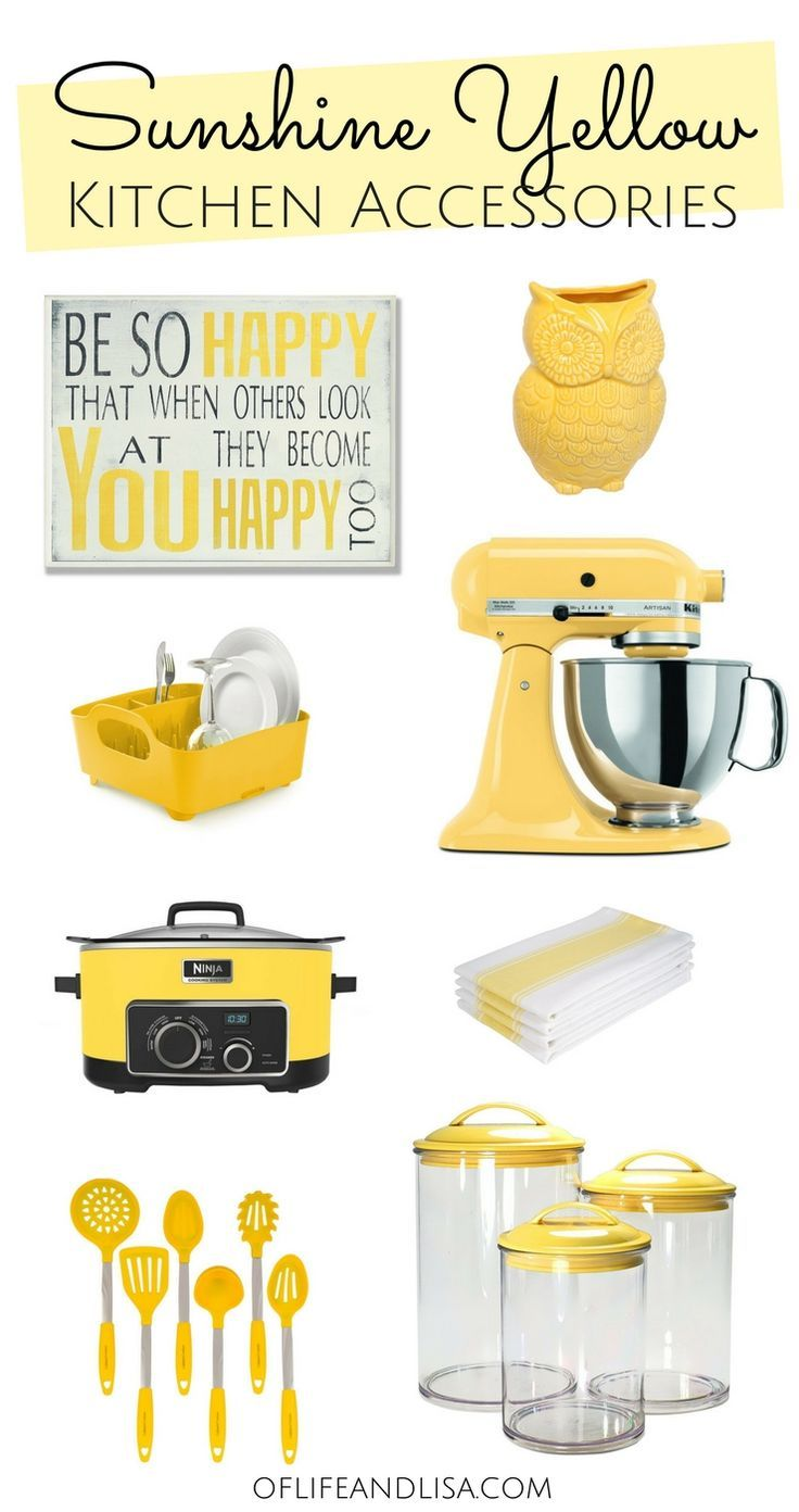 Yellow Decor And Kitchen Accessories For Hope You Enjoy This Nice Roundup Of Must Haves Yellowaesthetic Kitchendesign