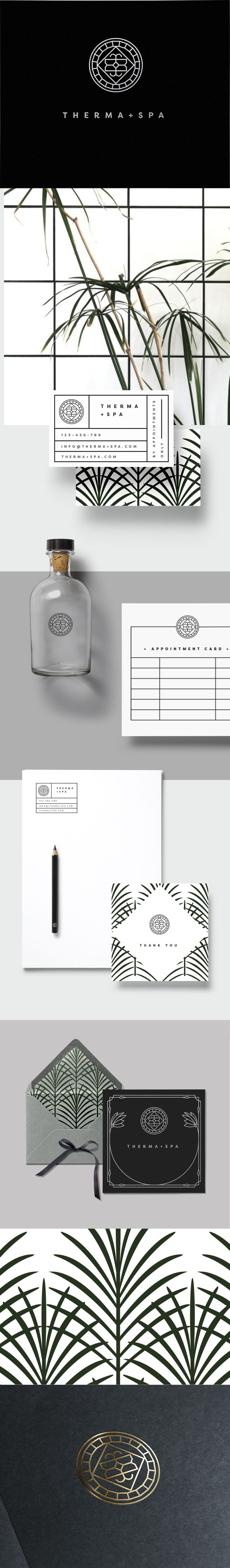 Minimalist + Edgy Branding + logo- available. Perfect for a spa, beauty or hair salons- Loolaadesigns.com