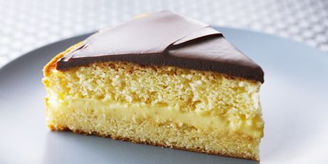 Anna Olson's Boston Cream Pie... I will be making these as cupcakes instead!