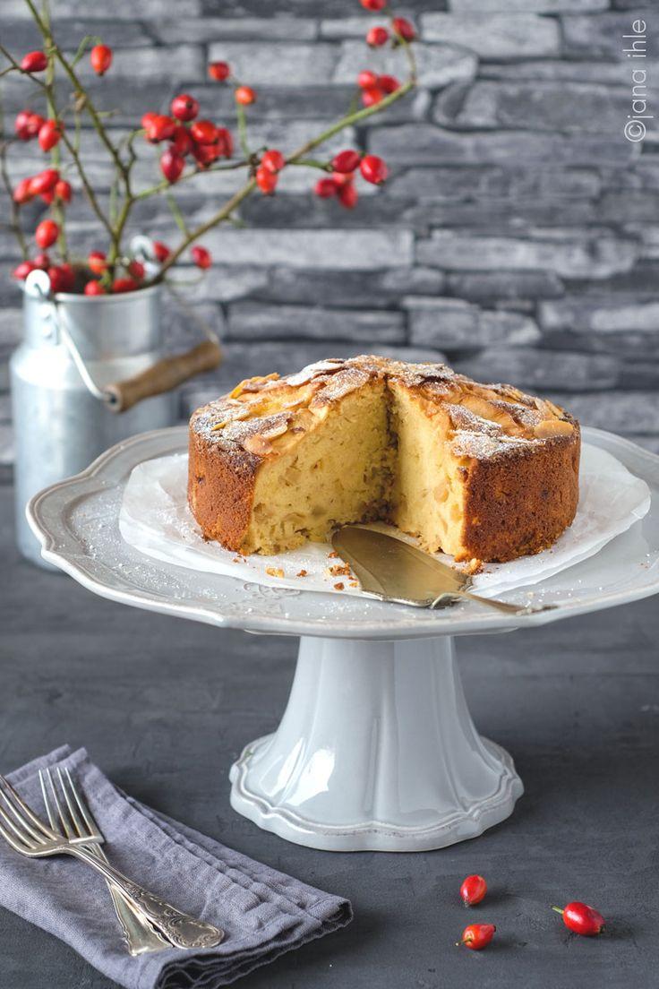 Apfel-Marzipankuchen, Apfelkuchen, Tortenständer, Cake Stand, Virginia Casa Corona