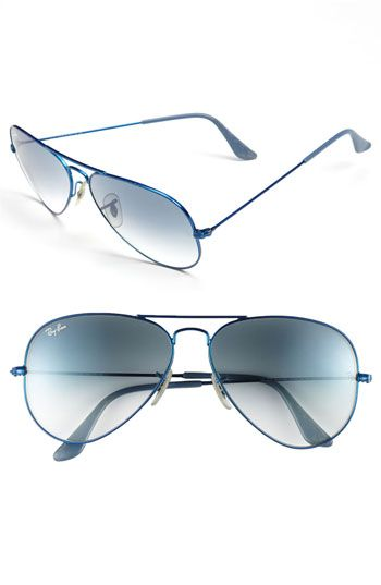 27 - Ray-Ban 'Original Aviator' 58mm Sunglasses available at #Nordstrom - In Black - Solid Lens