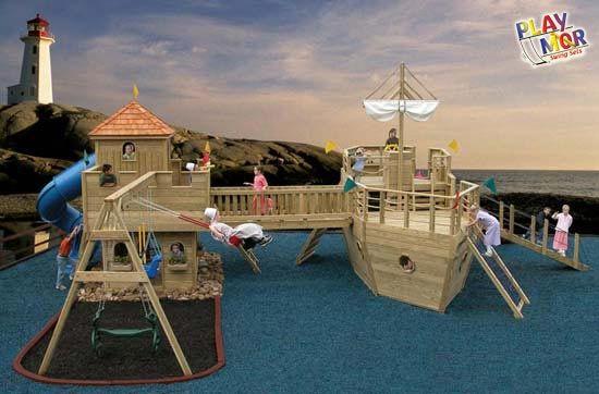 Pirate ship swing set | Play houses, Playground, Screened ...