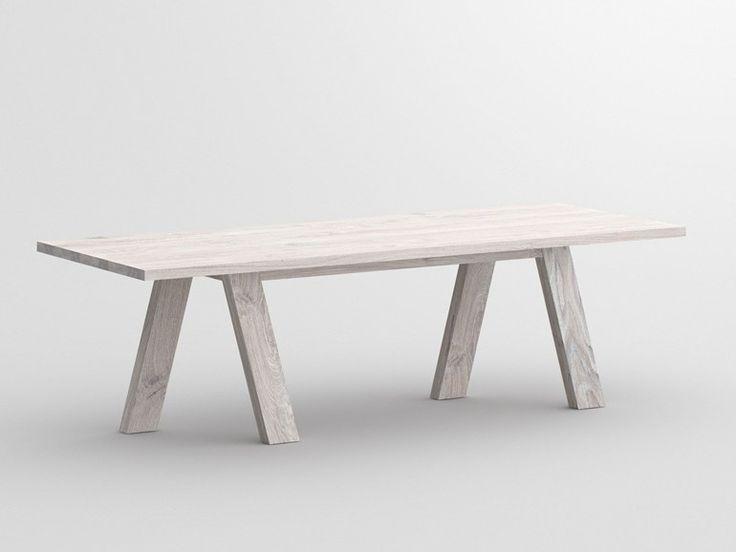 Go By vitamin design € 1893.44 Tavolo rettangolare in legno massello  L: 180 / 200 / 220 / 240 / 260 / 280 / 300 cm W: 90 / 95 / 100 cm H: 75 cm