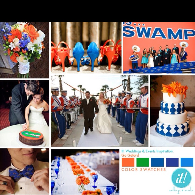 Yes, I would be that girl having a Florida Gator wedding & if I had it my way, it'd be at Ben Hill Griffin Stadium.
