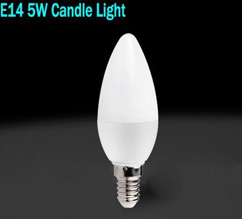Toptan 5 W E14 Led Mum Ampuller Işıklar Sıcak/Beyaz Yüksek Parlak Led Spot  Işıkları