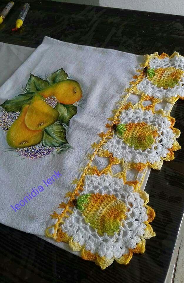 Flores Com Imagens Panos De Croche Bicos De Croche Simples