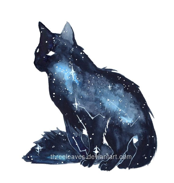 Stunning Watercolor Galaxy Animals by ThreeLeaves
