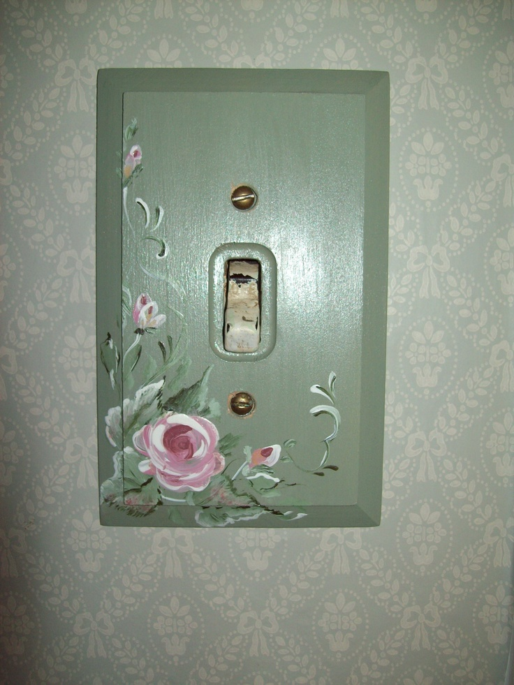 Hand Painted Switch Plate Hobbies Pinterest Hands