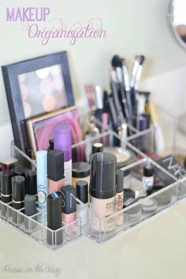 Makeup Organization from houseontheway.com
