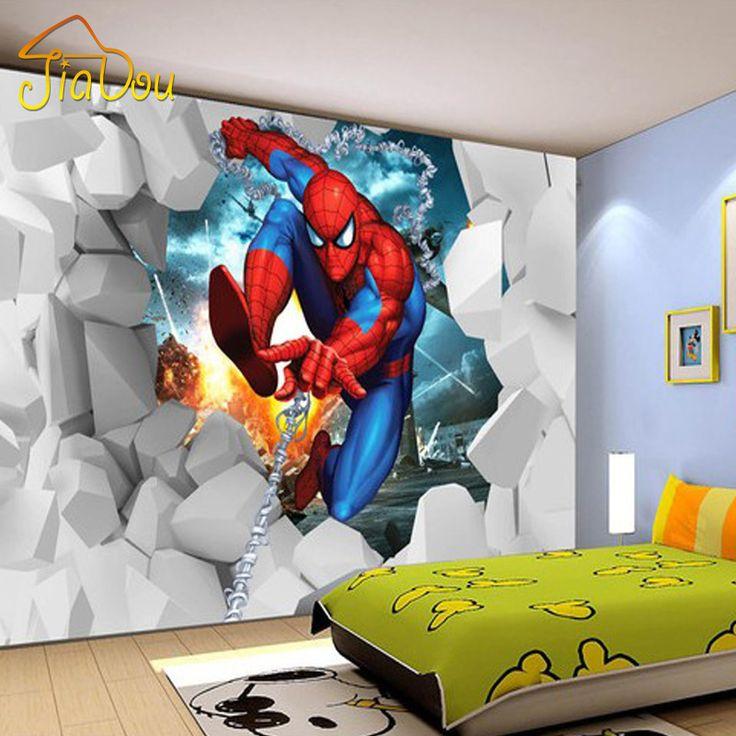 $9.89 (Buy here: https://alitems.com/g/1e8d114494ebda23ff8b16525dc3e8/?i=5&ulp=https%3A%2F%2Fwww.aliexpress.com%2Fitem%2FCustom-3D-Mural-Wallpaper-3D-Stereo-Spiderman-Children-s-Room-Mural-Bedroom-Modern-Living-Room-TV%2F1000001373409.html ) Custom Mural Wallpaper 3D Stereo Cartoon Spider Children's Room Mural Bedroom Modern Living Room TV Background Photo Wallpaper for just $9.89