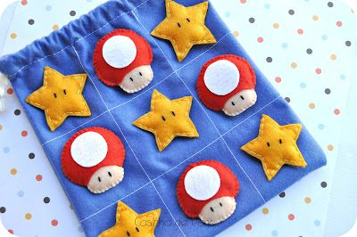 Casinha de Pano: felt Mario Bros game - would be a cute quiet book page