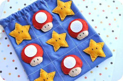 Casinha de Pano: Jogo da velha Mario Bros