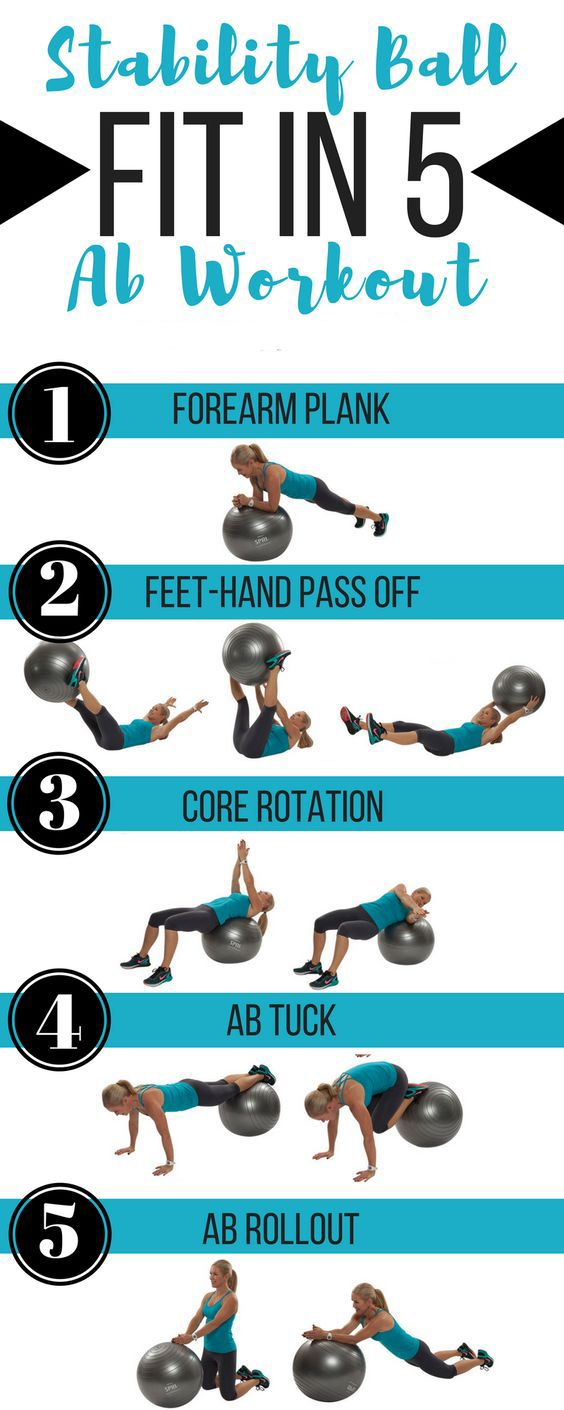 Fit in these 5 ab exercises to strengthen your core, and back using a stability ball to blast belly fat. Start with 1 round and aim to increase to 3 for a svelte waistline and strong abs. #weightlossworkout #Fitness #exercise #core #blastbellyfat #abs https://www.youtube.com/watch?v=Q96gA6-kRZk
