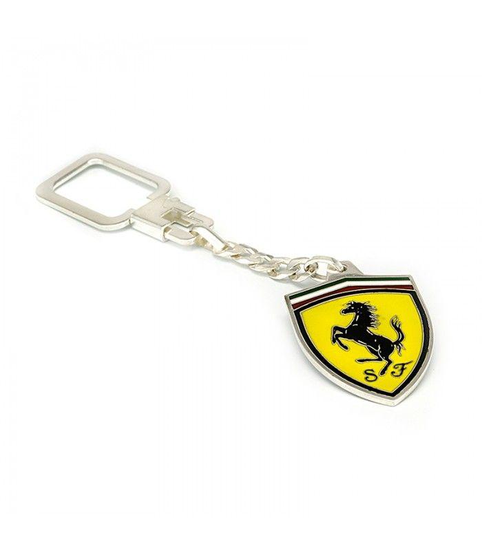 Llavero de Plata 925ml motivo de escudo Ferrari esmaltado en subasta - Subastas Regent's   Joyas y Antigüedades