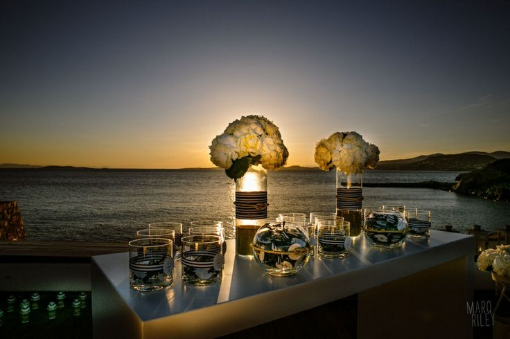 View to the sea...A perfect Navy Blue Marine Themed wedding @Lagonisi Grand Resort!