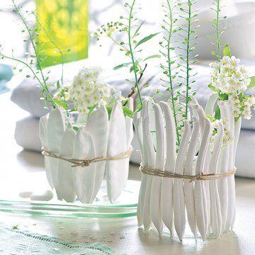 Mouler des légumes en plâtre transformés vases / Mould vegetables in plaster transformed vase