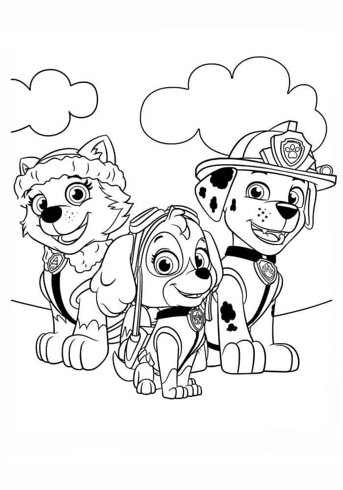 Free Paw Patrol Coloring Pages Paw Patrol Coloring Pages Paw Patrol Coloring Sky Paw Patrol