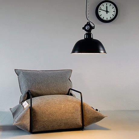 Wool & Air Armchair by MALAFOR