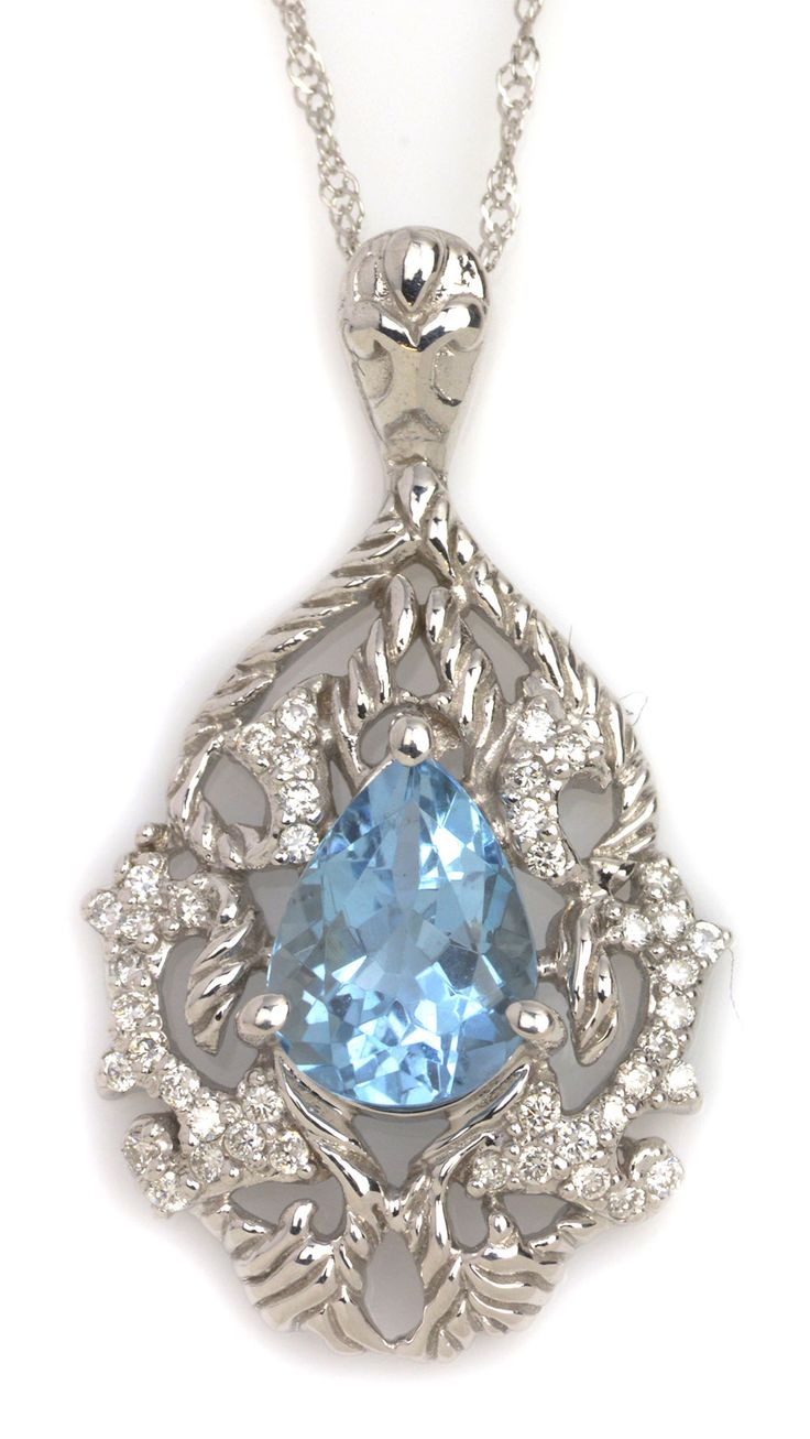images item best ct blue aquamarine march nicolesnona birthstone stunning jewelry pear on necklace pinterest