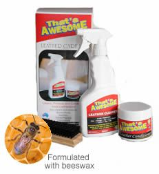 Leather Cleaner kit - easily dissolves and lifts grime from leather goods and furniture, including auto/marine leather interiors. Includes:  Leather Cleaner 500ml  Leather Conditioner 250g  Soft brush x 1  Sponge applicator x 1 all @ $79.95 only!!!