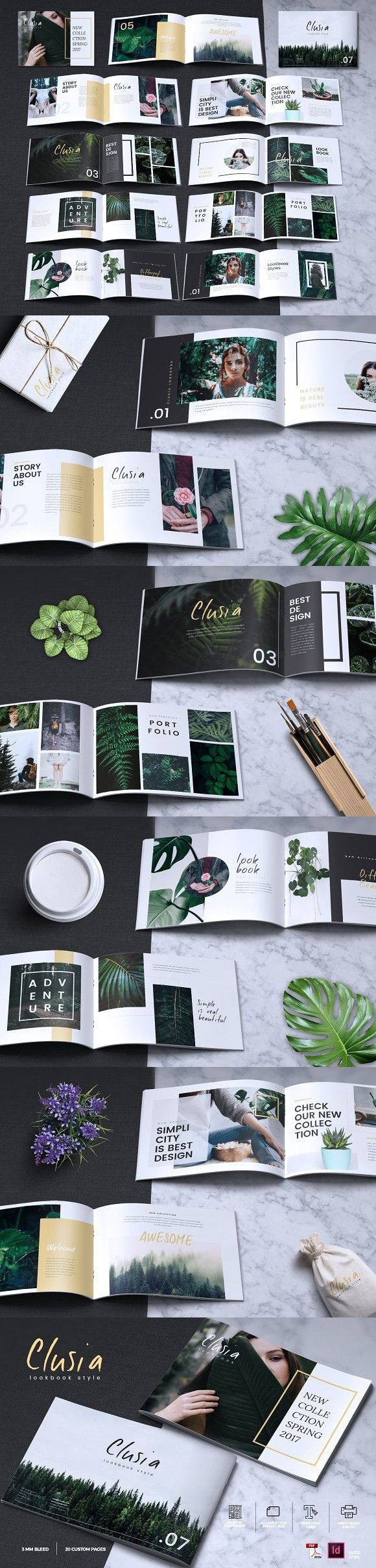 CLUSIA - Lookbook Brochure Catalogue #agency