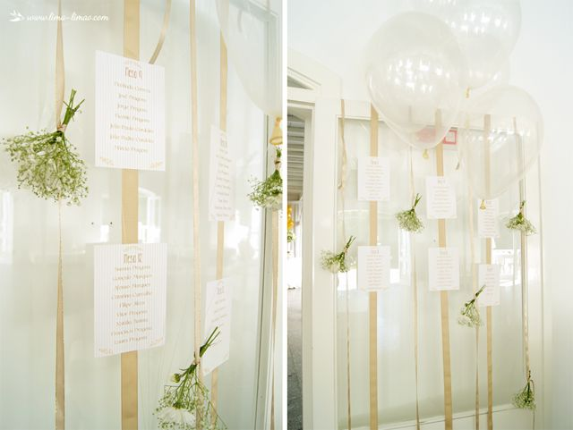 Table seating plan  for this white and gold glamour baptism party
