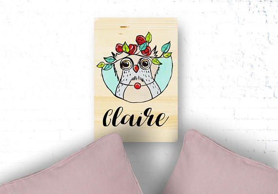 Owl nursery custom name, Baby girl name sign, Wooden nusery decor, Woodland baby shower, new baby gift, Name reveal decor, owl baby shower