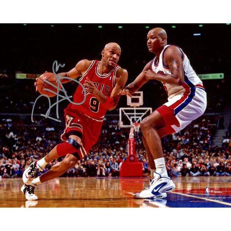 """Ron Harper Chicago Bulls Fanatics Authentic Autographed 8"""" x 10"""" Driving vs. Pistons Photograph"""