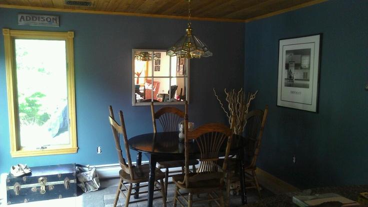 New dining room wall colorBenjamin Moore Hamilton blue