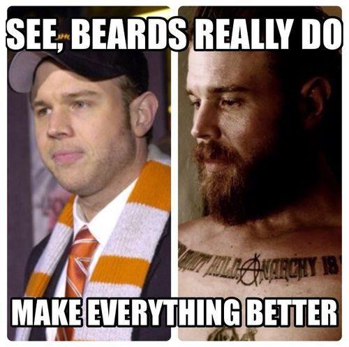 Sons of Anarchy - Ryan Hurst   Oh dear lord. . .he's so dorky w/o a beard!