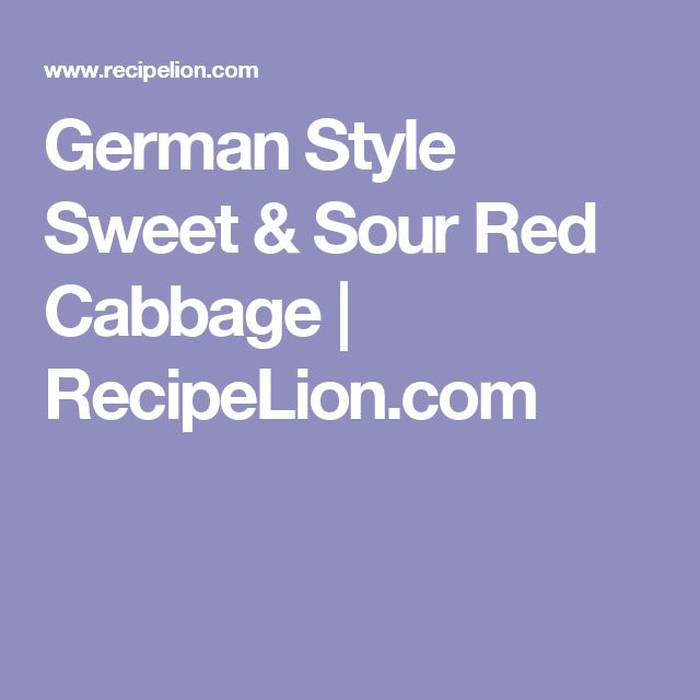Grandma Jeanette's Amazing German Red Cabbage Recipe — Dishmaps