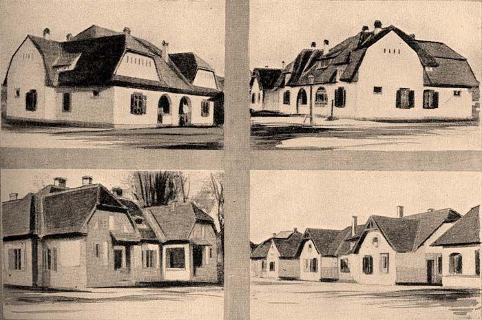 Mészhomoktégla épületek a Wekerlén (régen: Kispesti Állami Munkástelep)